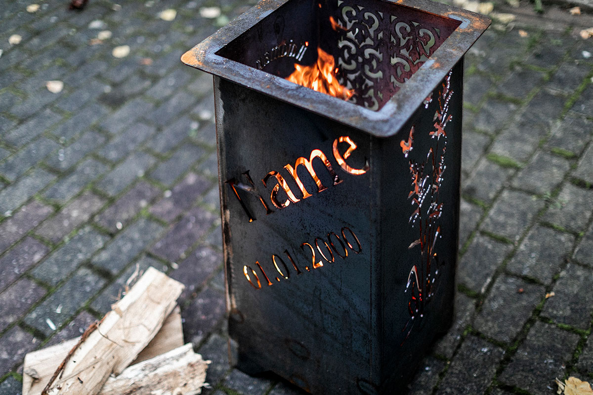 Feuerschale Mit Namen Und Datum